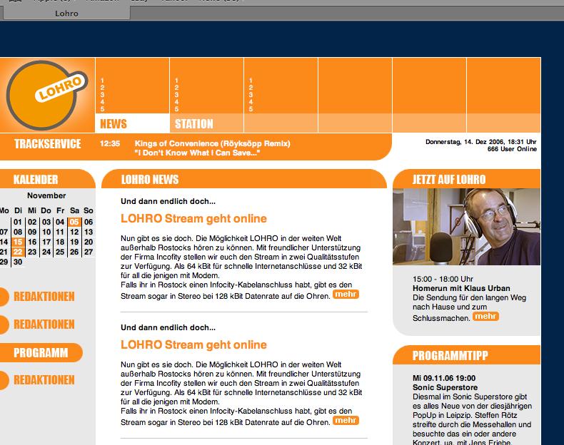 Redesign-Layout der Lohro-Webseite